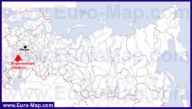 Воронежская область на карте России