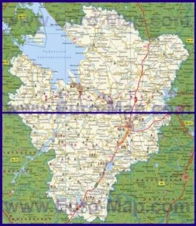 Автомобильная карта дорог Ярославской области