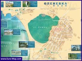Подробная туристическая карта Оленевки