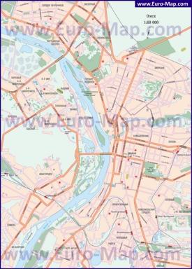 Автомобильная карта дорог Омска