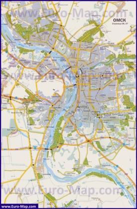 Подробная карта города Омск