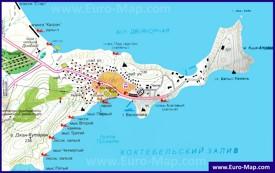 Карта Орджоникидзе с окрестностями