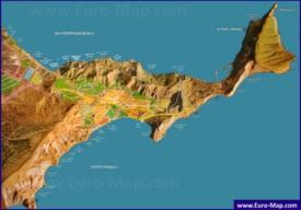 Карта пляжей Орджоникидзе