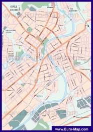 Карта города Орёл
