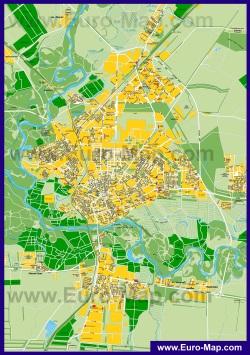 Подробная карта города Оренбург