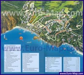 Туристическая карта Партенита