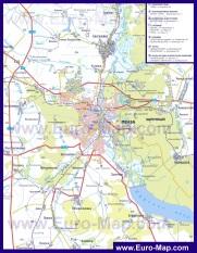 Автомобильная карта дорог Пензы