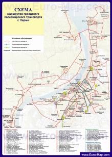 Карта маршрутов транспорта Перми