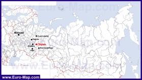Пермь на карте России