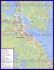 Автомобильная карта дорог Петрозаводска