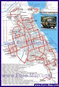 Карта маршрутов общественного транспорта Петрозаводска