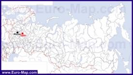 Плёс на карте России