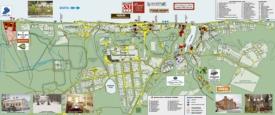 Подробная туристическая карта города Плёс с достопримечательностями