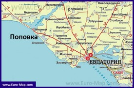 Карта Поповки с окрестностями