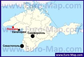Поповка на карте Крыма