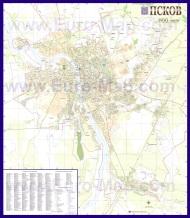 Подробная карта города Псков