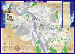Туристическая карта Пскова с гостиницами