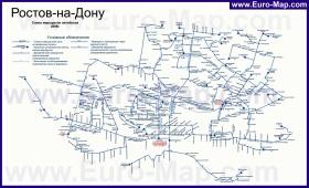 Карта маршрутов автобусов Ростова-на-Дону
