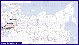 Ростов-на-Дону на карте России