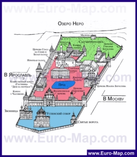 Карта-схема Ростовского Кремля