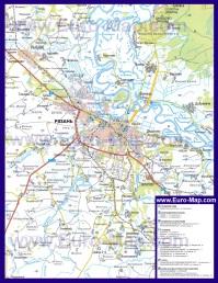 Автомобильная карта дорог Рязани