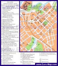 Карта центра Рязани с достопримечательностями