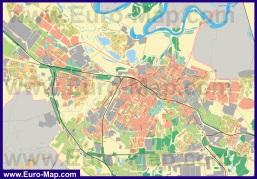 Подробная карта города Рязань