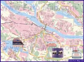 Карта города Рыбинск