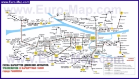Карта маршрутов транспорта Рыбинска