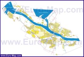 Подробная карта Рыбинска