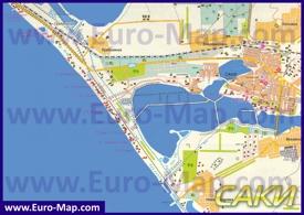 Туристическая карта Сак с санаториями