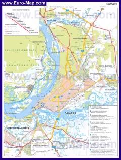 Автомобильная карта дорог Самары