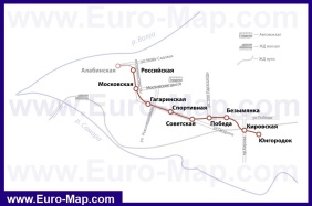 Карта метро Самары
