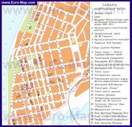 Карта Самары с достопримечательностями