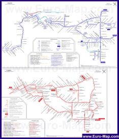 Карта Самары с маршрутами транспорта