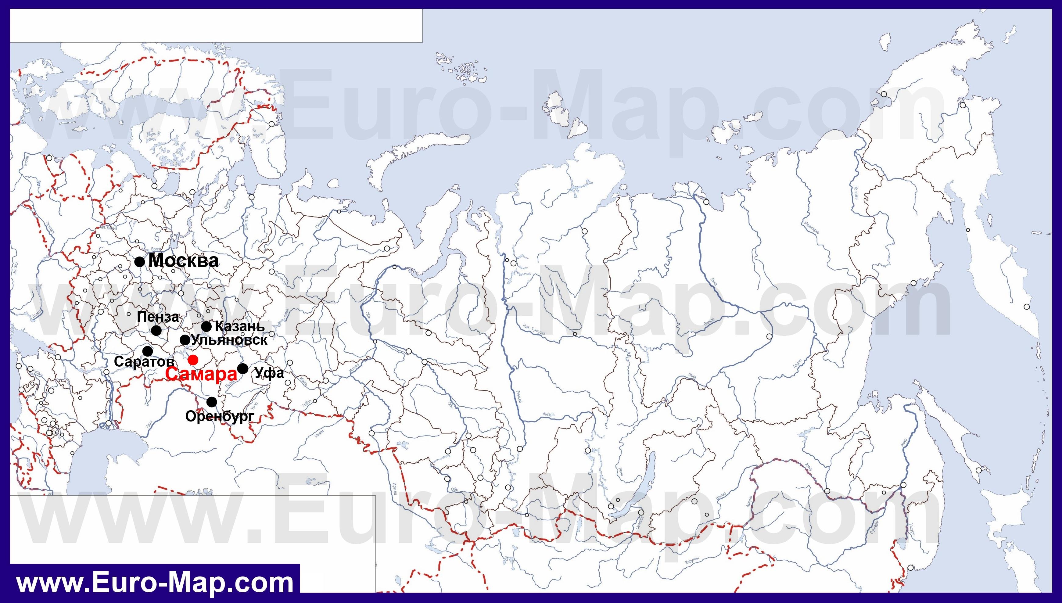 Карты Самары | Подробная карта города ...: euro-map.com/karty-rossii/samara