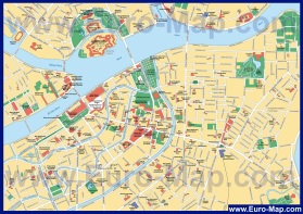 Карта центра города Санкт-Петербург