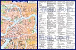 Карта достопримечательностей Санкт-Петербурга