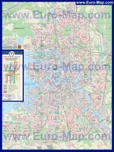 Подробная карта Санкт-Петербурга