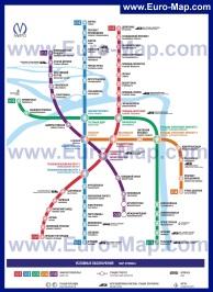 Схема - карта метро Санкт-Петербурга