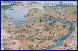 Туристическая карта Санкт-Петербурга