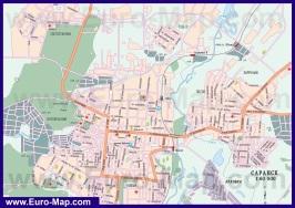 Автомобильная карта дорог Саранска