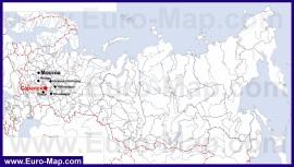 Саранск на карте России