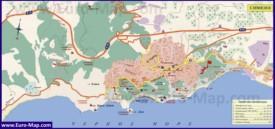 Подробная туристическая карта Симеиза