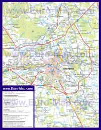 Автомобильная карта дорог Смоленска