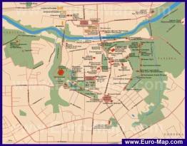 Карта Смоленска с достопримечательностями
