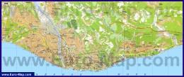 Подробная карта города Сочи
