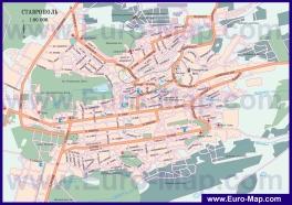 Автомобильная карта дорог Ставрополя