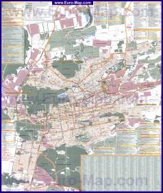 Подробная карта города Ставрополь