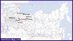 Сыктывкар на карте России